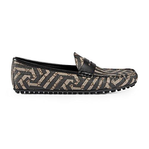 Gucci Men's GG Supreme Caleido Driver Loafer, Beige/Black