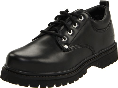 Skechers Men's Alley Cat Utility Oxford,Black Smooth