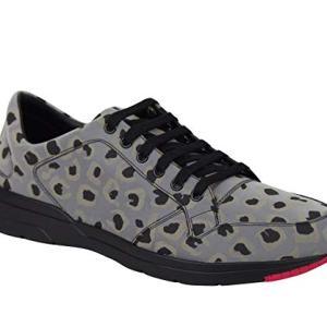 Gucci Reflex Leopard Print Gray Fabric Running Sneakers