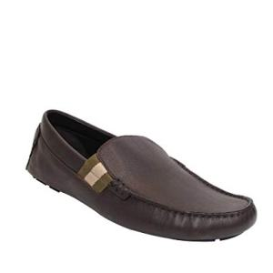 Gucci Men's Chocolate Brown Leather with Trademark Loafers