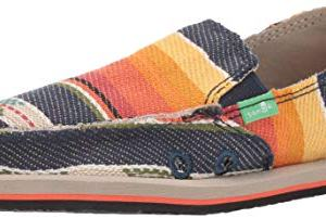 Sanuk Kids Boys' Lil Donny Funk Loafer Flat, Navy Multi Blanket