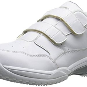 ADTEC Men's White Velco Work Shoe - Slip Resistant, Breathable
