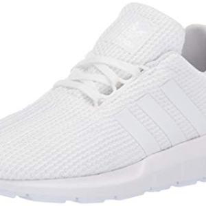 adidas Originals Unisex-Kid's Swift Running Shoe, White/White/White