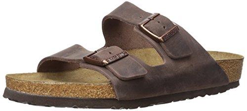 Birkenstock Unisex Arizona Habana Oiled Leather Soft Footbed Sandals