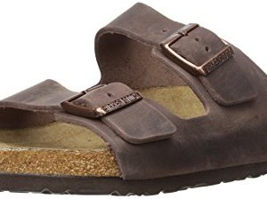 Birkenstock Unisex Arizona Habana Oiled Leather Soft Footbed Sandals