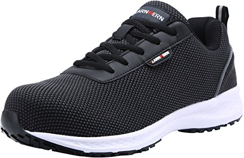 LARNMERN Steel Toe Shoes Men, Work Safety Sneakers Reflective Strip