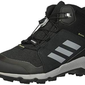adidas outdoor Kids' Terrex MID GTX Hiking Boot, Black/Grey Three/Carbon