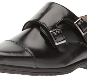 Florsheim Kids Boys' Reveal Double Monk Jr. Oxford, Black