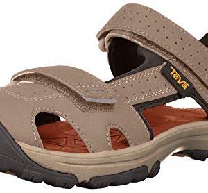 Teva Boys' K Hurricane Toe PRO Sport Sandal, Walnut