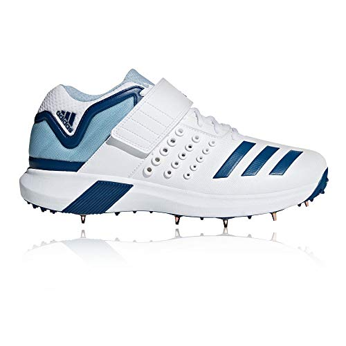 adidas Adipower Vector Mid Mens Adult Cricket Spike Shoe White/Blue