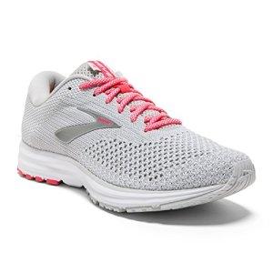Brooks Womens Revel 2 Running Shoe - Grey/White/Pink