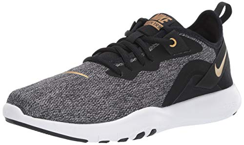 Nike Women's Flex Trainer 9 Sneaker, Black/Metallic Gold