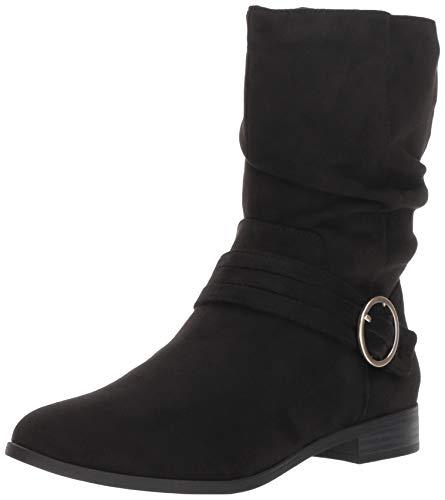 Dr. Scholl's Shoes Women's Ripple Mid Calf Boot, Black Microfiber