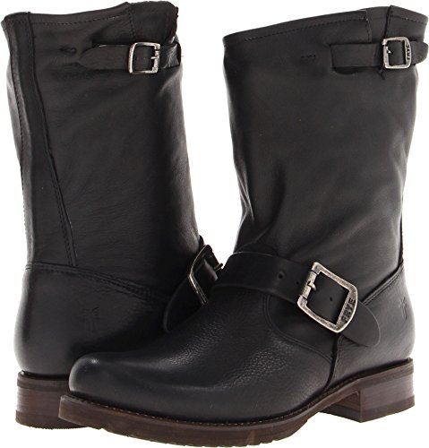 FRYE Women's Veronica Short Boot, Black Soft Vintage Leather