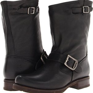 FRYE Women's Veronica Short Boot, Black Soft Vintage Leather