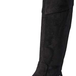 BZees Women's Boomerang Knee High Boot, Black