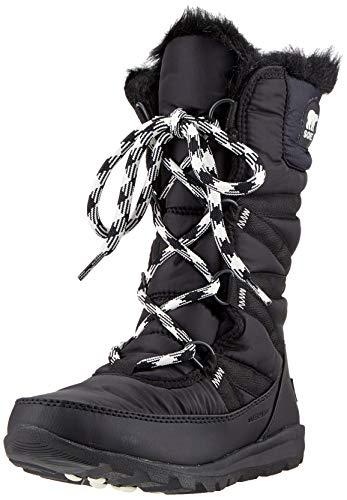 Sorel Women's Whitney Tall Lace Snow Boot, Black, sea Salt