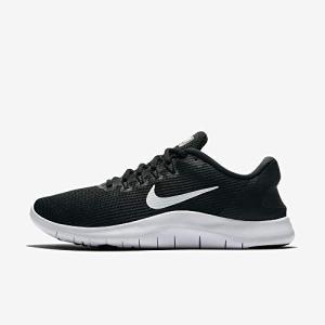 Nike Women's Flex RN 2018 Running Shoe Black/White
