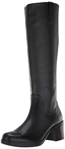 CLARKS Women's Hollis Moon Knee High Boot, Black Leather