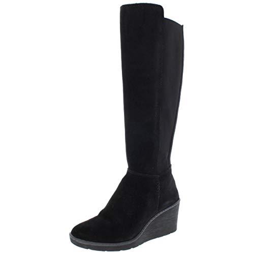CLARKS Women's Hazen Madison Fashion Boot, Black Suede