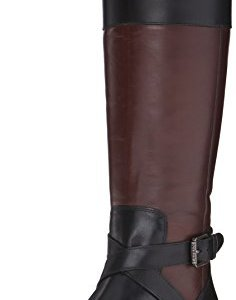 RALPH LAUREN Women's Maryann, Black/Dark Brown