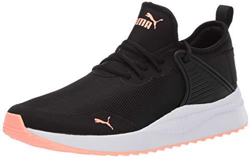 PUMA Women's Pacer Next Cage Sneaker, Black Bright Peach