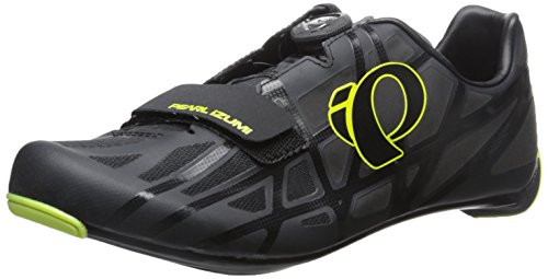 PEARL IZUMI Men's Race rd iv-m Cycling Shoe, Black/Lime Punch