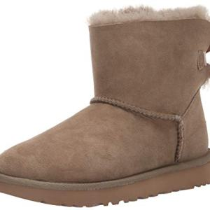 UGG Women's W MINI BAILEY BOW II Fashion Boot, antilope