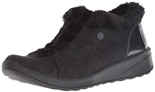 BZees Women's Golden Sneaker Microfiber/Black Faux Fur