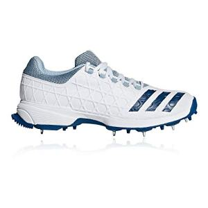 adidas Mens Adult Cricket Trainer Spike Shoe White/Blue