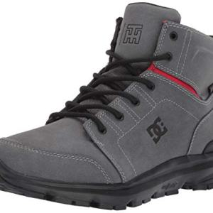 DC Men's Torstein Snow Boot, Grey/Black/red