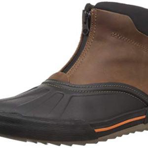 CLARKS Men's Bowman Top Boot, Dark Tan Leather