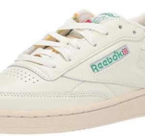 Reebok Women's Club Sneaker, Chalk/Glen Green/Paper White/Excellent red