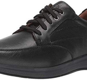 Florsheim Men's Lakes Moc Toe Walk Oxford Sneaker, Black Tumble