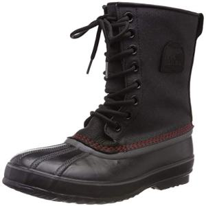 Sorel Men's Premium T CVS Snow Boot, Black, Sail Red