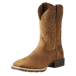 Ariat Men's Hybrid Rancher Western Boot, Distressed Brown