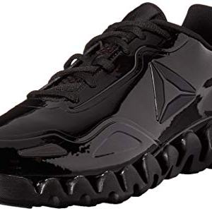 Reebok Men's Zig Pulse Running Shoe, black/black/patent