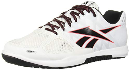 Reebok Men's CROSSFIT Nano 2.0 Cross Trainer, White/Black/Neon Red