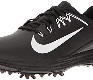 NIKE Men's Lunar Command 2 Golf Shoe, Black/White/Black