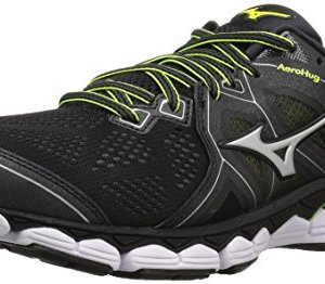 Mizuno Men's Wave Sky 2 Running Shoe, Black/Safety Yellow