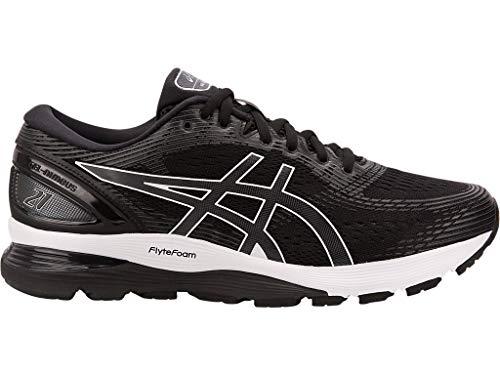 ASICS Men's Gel-Nimbus 21 (4E) Running Shoes, Black/Dark Grey