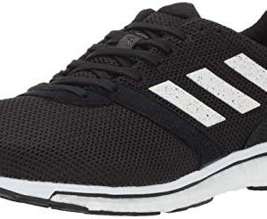adidas Men's Adizero Adios 4 Running Shoe, black/white/black