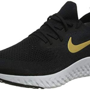 Nike Epic React Flyknit Women's Running Shoe Black/Metallic Gold