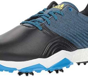 adidas Men's Adipower Golf Shoe, Bright Blue/core Black/Shock Yellow
