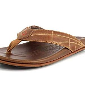 OLUKAI Men's Hokule'a Kia Sandals, Tan/Tan