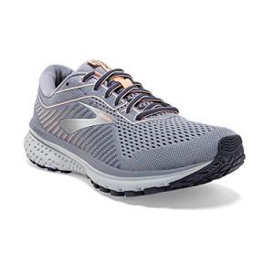 Brooks Womens Ghost 12 Running Shoe - Granite/Peacoat/Peach