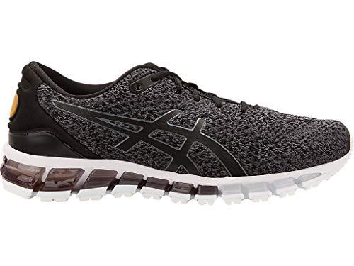 ASICS Men's Gel-Quantum Knit Running Shoes, Black/Carbon/Pale Gold