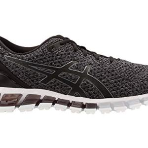 ASICS Men's Gel-Quantum Knit Running Shoes, Black/Carbon/Pale Gold