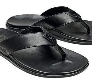 OLUKAI Men's Nalukai Sandal Black/Black