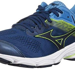 Mizuno Men's Wave Inspire 15 Running Shoe Blue Wing Teal-Dress Blue